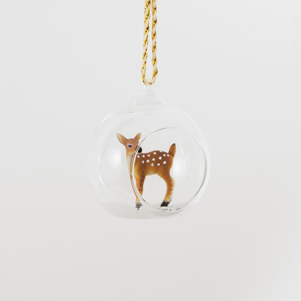 Winter Forrest Deer Bauble