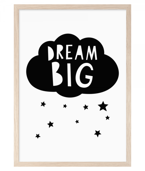 Dream Big A4 Print By Mini Learners - stoneandco