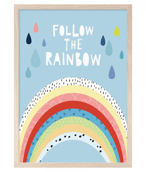 Follow The Rainbow A4 Print By Mini Learners - stoneandco