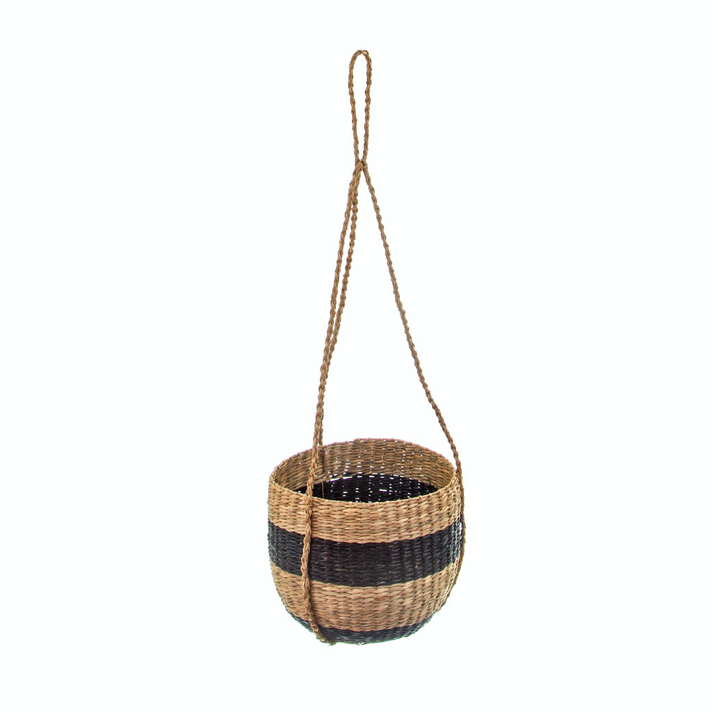 Natural Seagrass Hanging Plant Pot - stoneandcoshop