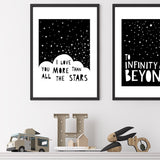 I Love You More Than All The Stars A4 Print By Mini Learners - stoneandcoshop