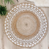 Natural Jute Round Rug - stoneandcoshop