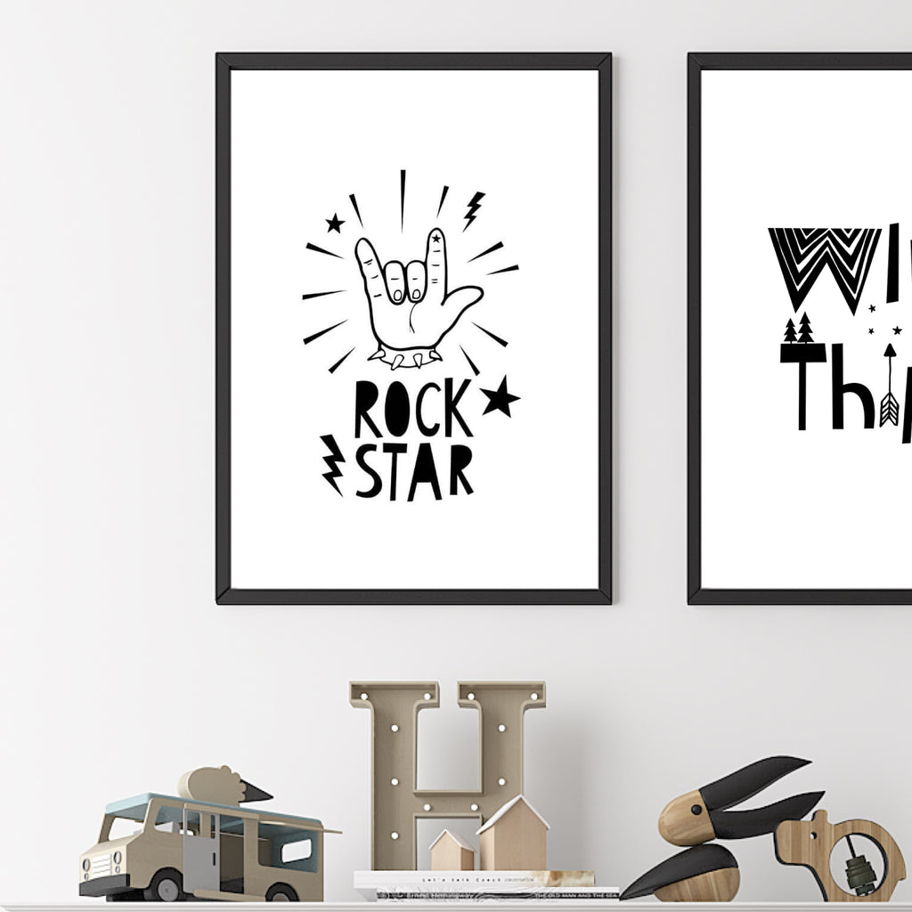 Rock Star - A4 Print By Mini Learners - stoneandcoshop
