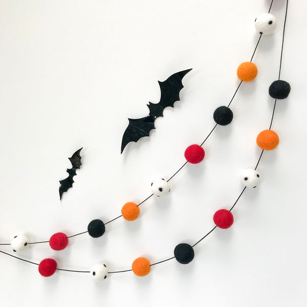 Stone and Co Felt Ball Halloween Pom Pom Garland - Limited Edition Creep! garland - stoneandcoshop