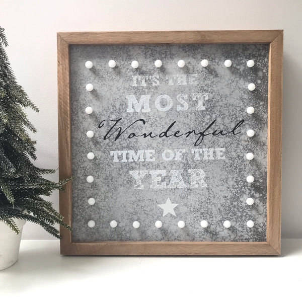 Most Wonderful Time Of The Year -  LED Sign - stoneandcoshop
