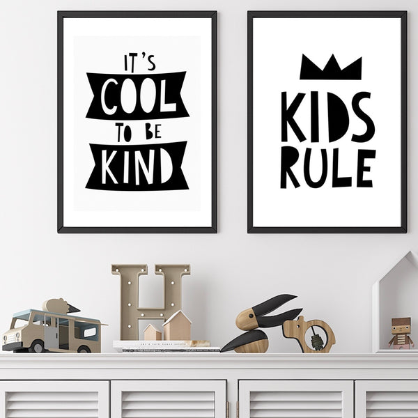Its Cool To Be Kind A4 Print By Mini Learners - stoneandcoshop