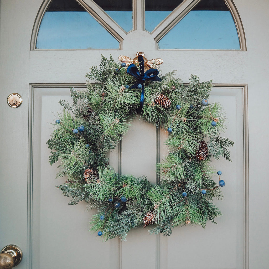 Christmas Wreath With Berries and Pine cones