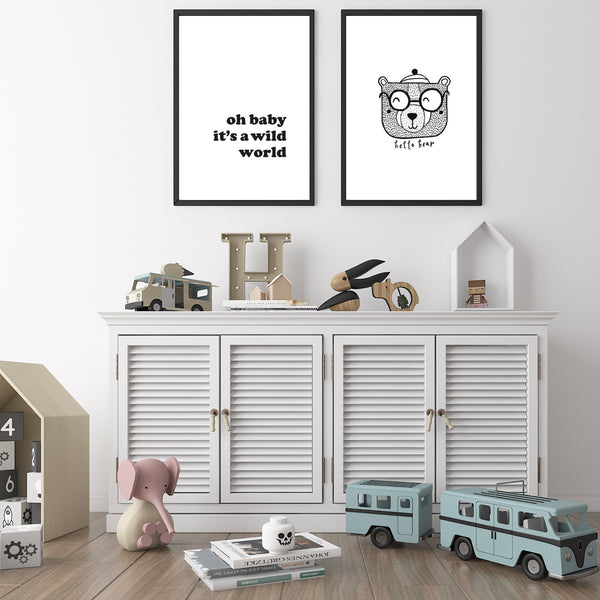 Oh Baby It's A Wild World - A3 Print from Sadler Jones - stoneandcoshop