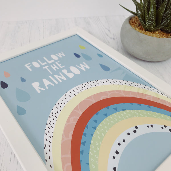 Follow The Rainbow A4 Print By Mini Learners - stoneandcoshop