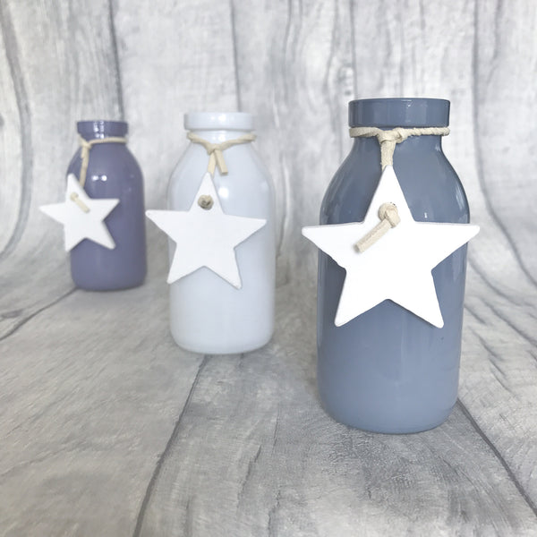 Mini Star Pastel Vases With Star - stoneandco