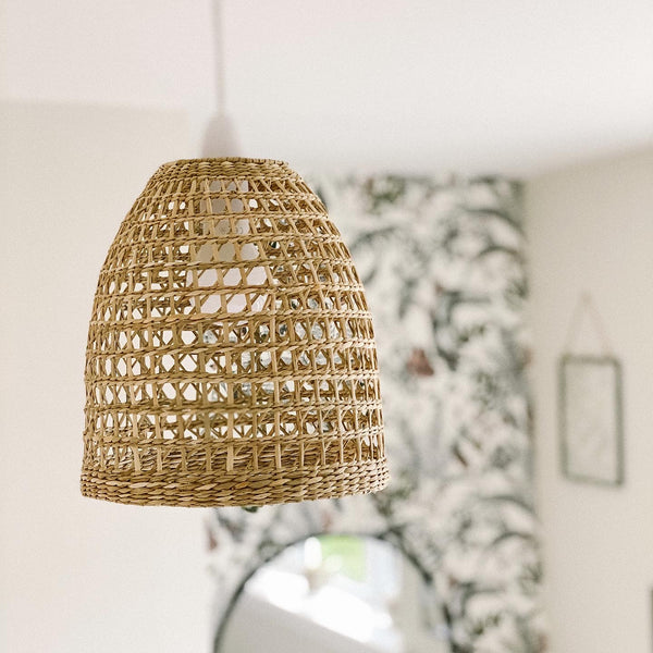 Woven Natural Seagrass Lampshade - stoneandcoshop