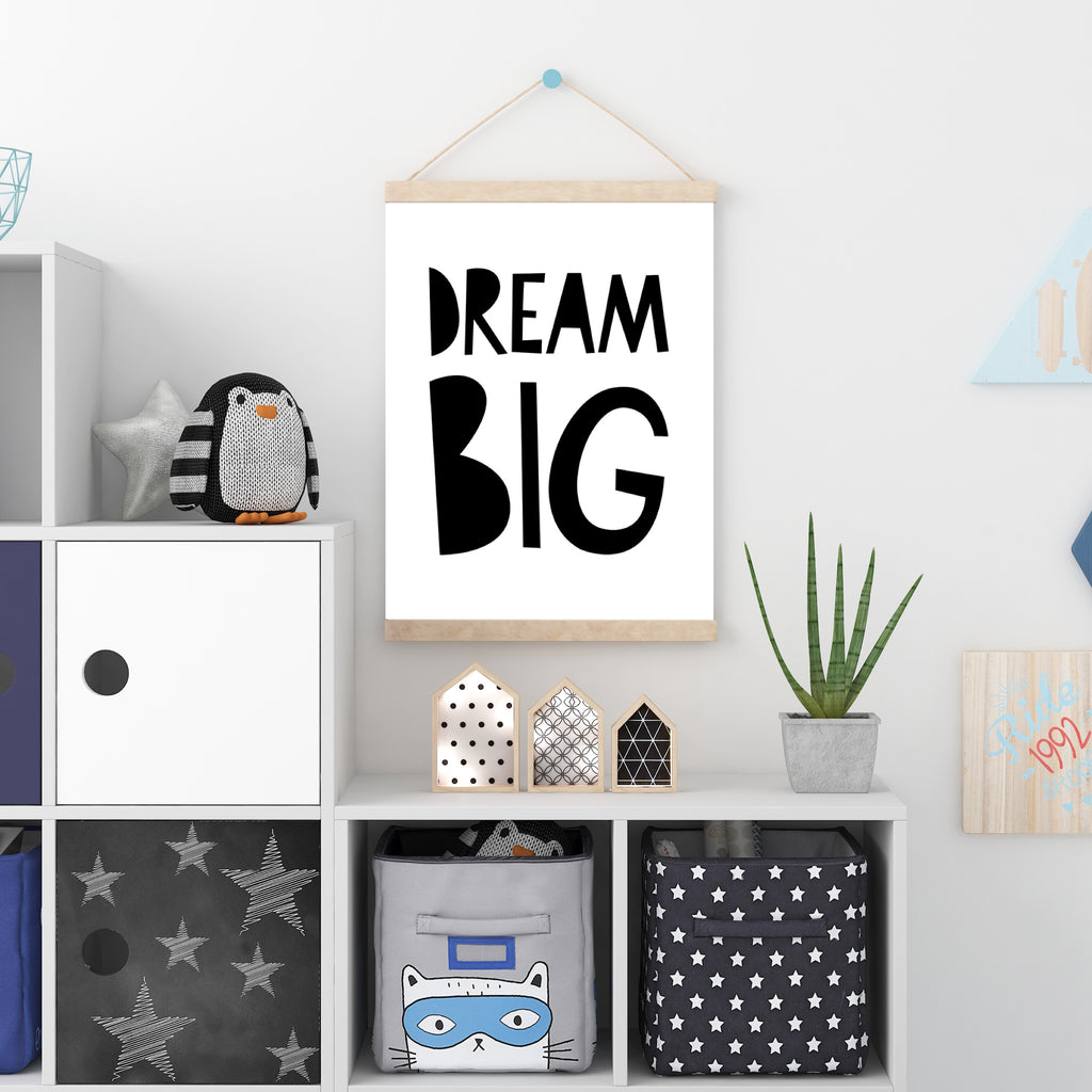 Mono Dream Big - A4 Print By Mini Learners - stoneandcoshop