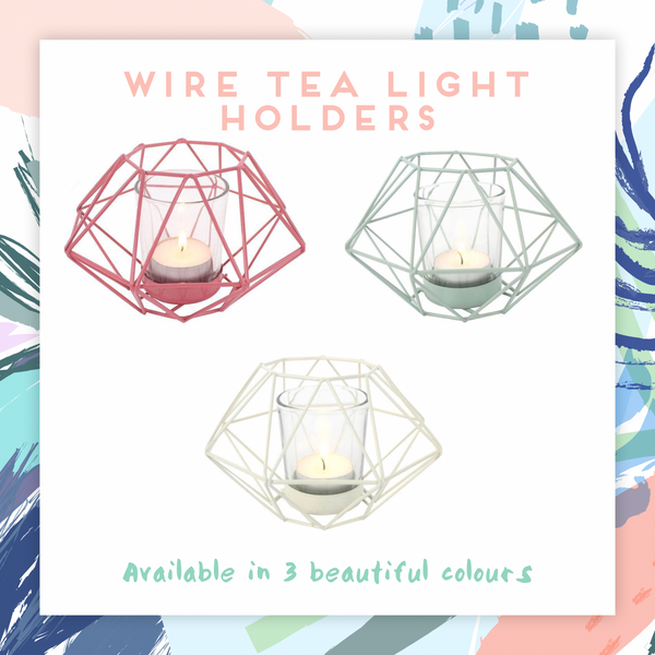 Wire Tea Light Holder - stoneandcoshop