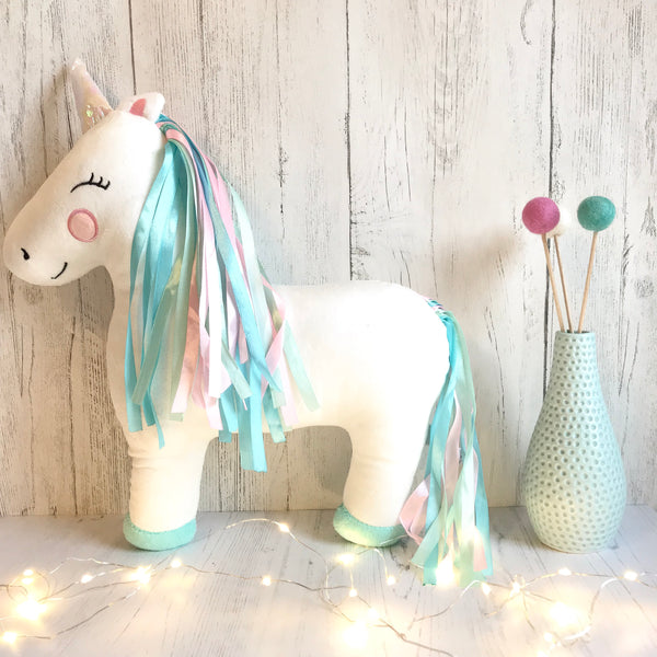 Starlight Rainbow Unicorn Cushion - stoneandco