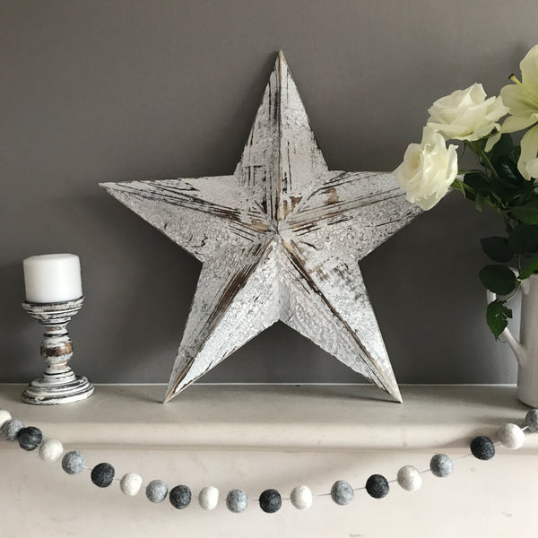 Large Wooden Barn Star - stoneandco