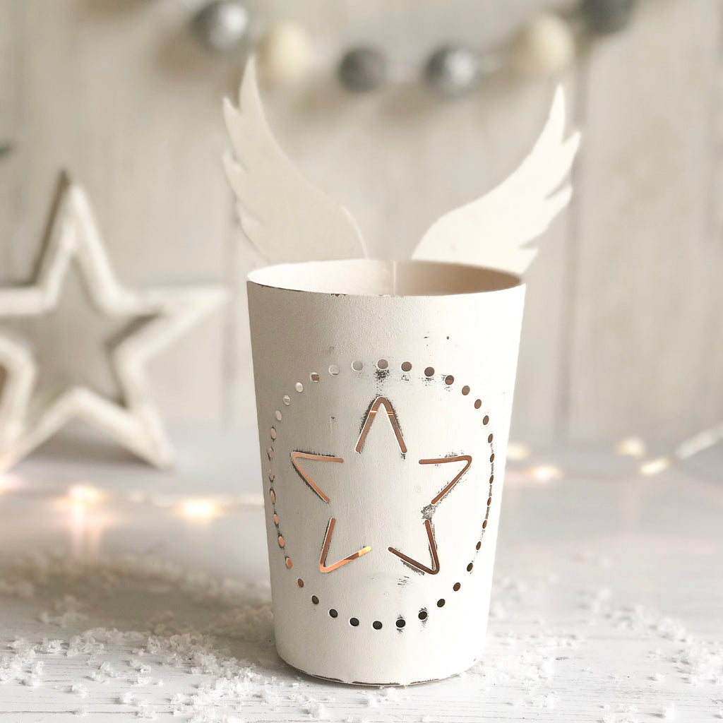 Angel Wing Tea Light Holder - stoneandcoshop