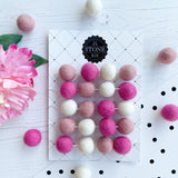 Stone and Co Felt Ball Pom Garland Pretty Pinks - stoneandcoshop