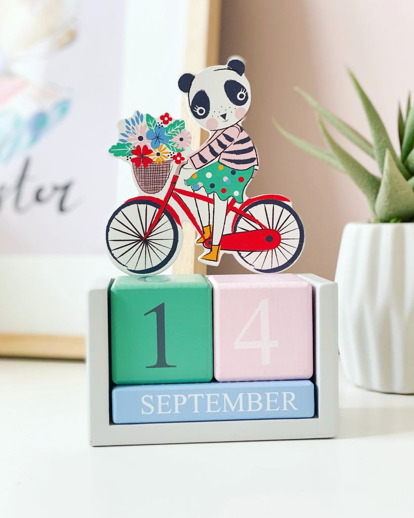 Vintage Panda Desktop Calendar By Gisela And Graham - stoneandcoshop