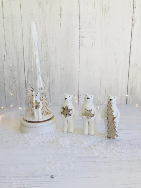 Mini Christmas Polar Bear Trio - stoneandcoshop