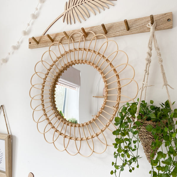 Rattan Natural Wicker Mirror - stoneandcoshop