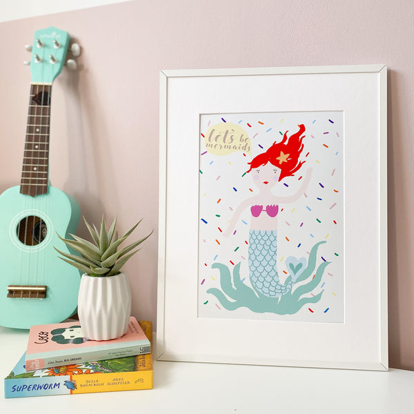 Mermaid Print By Eleanor Bowmer