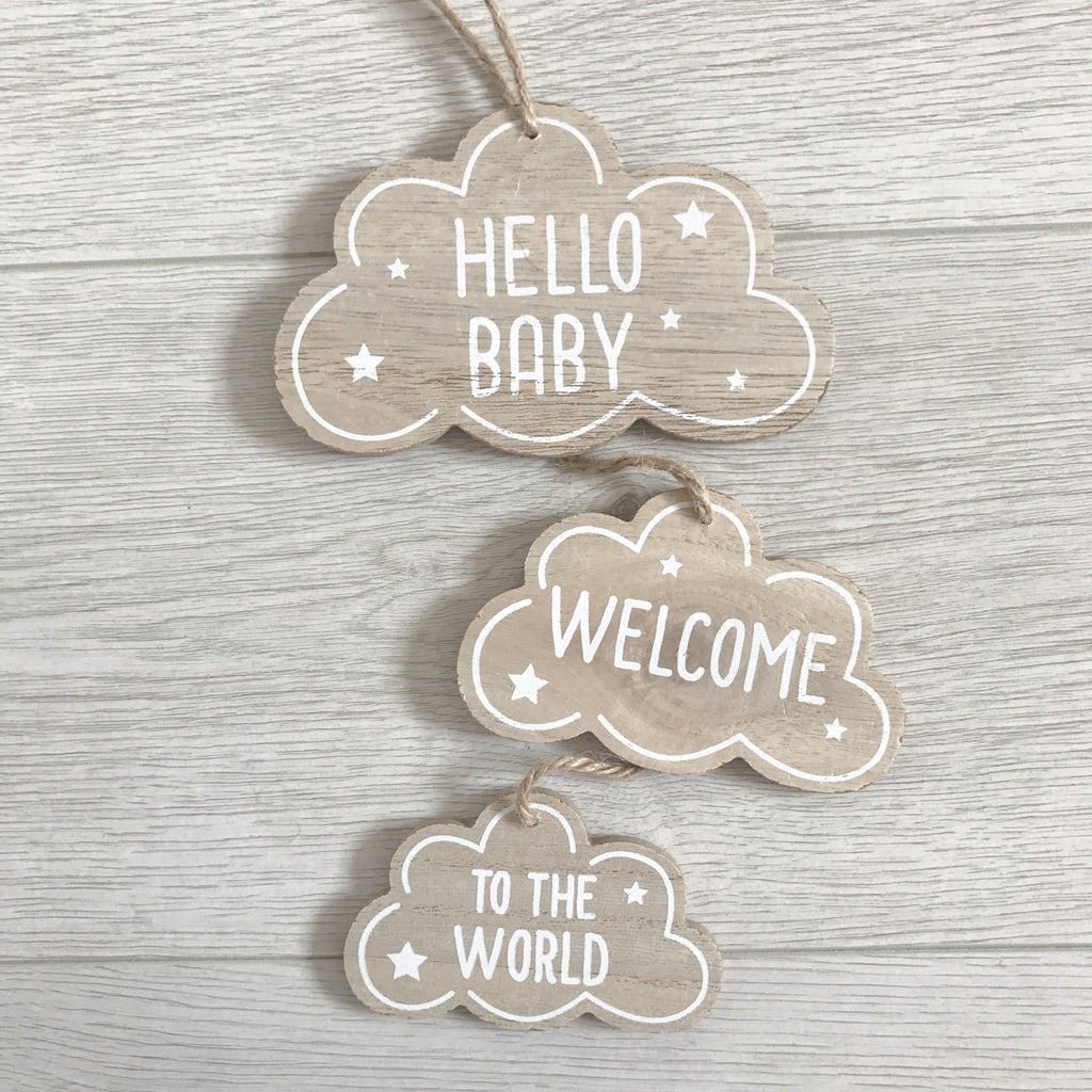Welcome To The World Wooden Hanger - stoneandcoshop