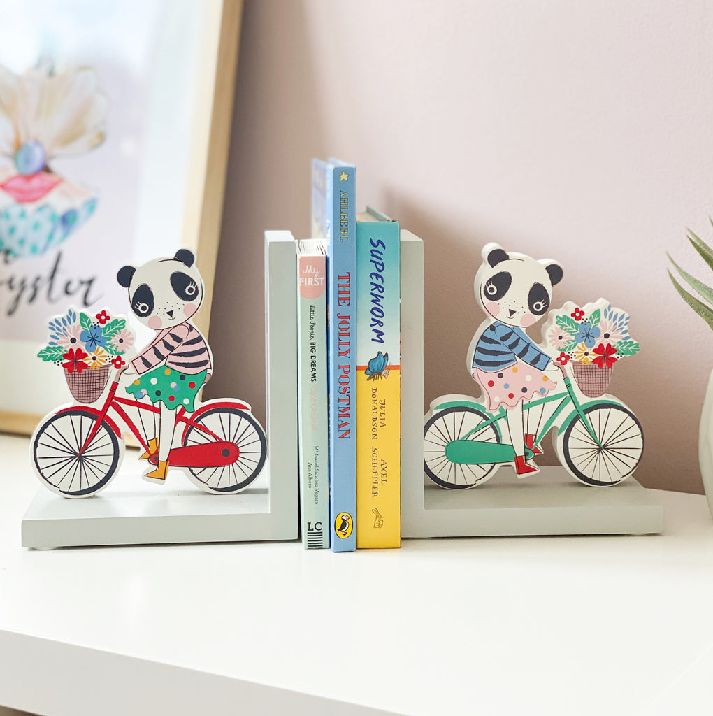 Vintage Polka Dot Panda Bookends From Gisela And Graham - stoneandcoshop