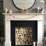 Stone and Co Felt Ball Autumn Pom Pom Garland - Copper, Mustard and Stone - stoneandco