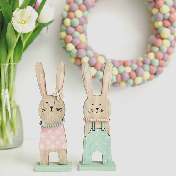 Easter Bunnies set of 2 - stoneandcoshop