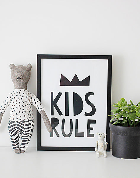 Kids Rule - A4 Print By Mini Learners - stoneandcoshop