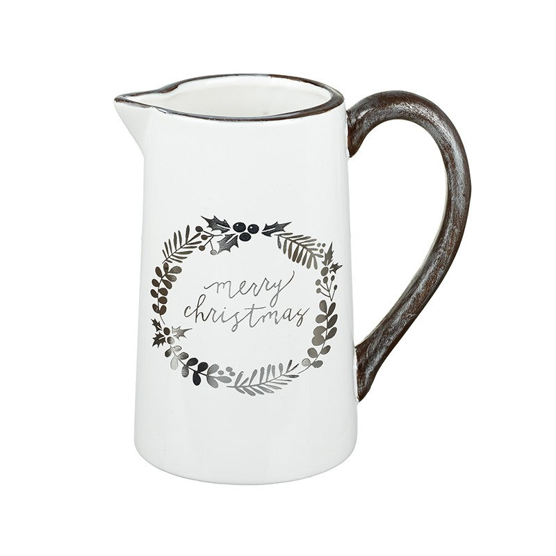 Merry Christmas Ceramic Jug - stoneandcoshop
