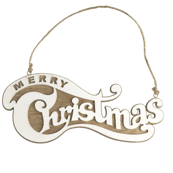 Merry Christmas Hanging Retro Sign - stoneandco