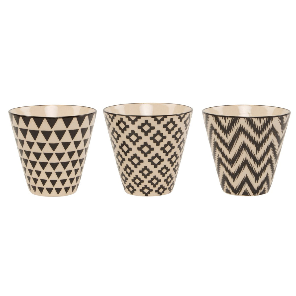 Geometric Planters Pots Set of 3 - stoneandcoshop