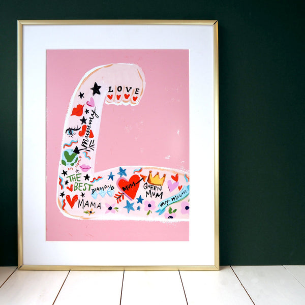 Mum Strong Arm A4 print by Eleanor Bowmer - stoneandcoshop