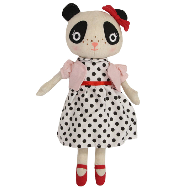 Vintage Panda Soft Toy From Gisela And Graham - stoneandcoshop