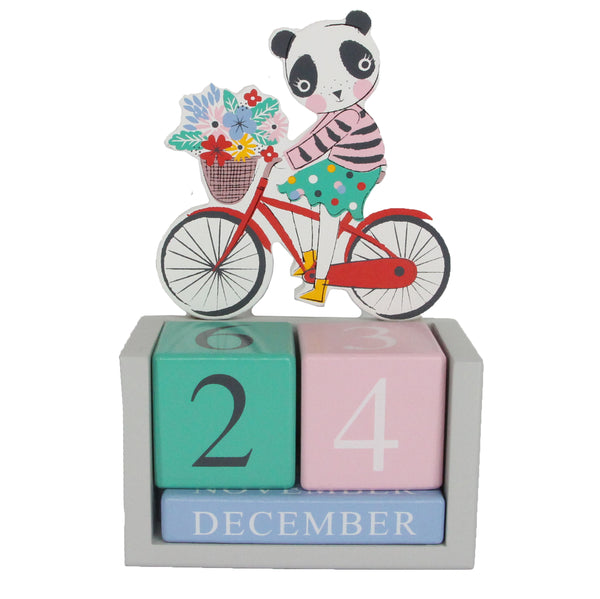 Vintage Panda Desktop Calendar By Gisela And Graham - stoneandco