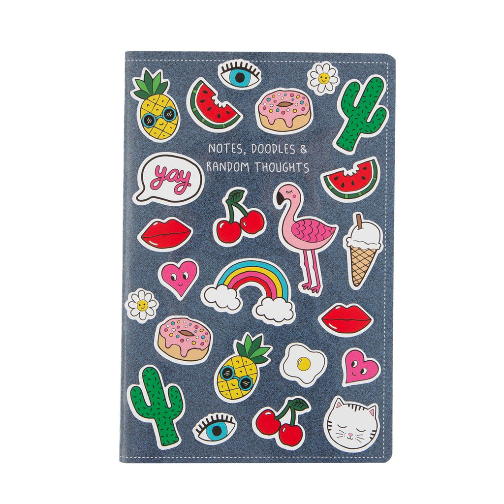 Patches and Pins Notebook - stoneandcoshop