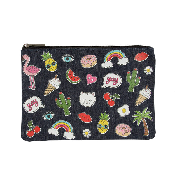 Patches and Pins Pencil Case Pouch - stoneandco