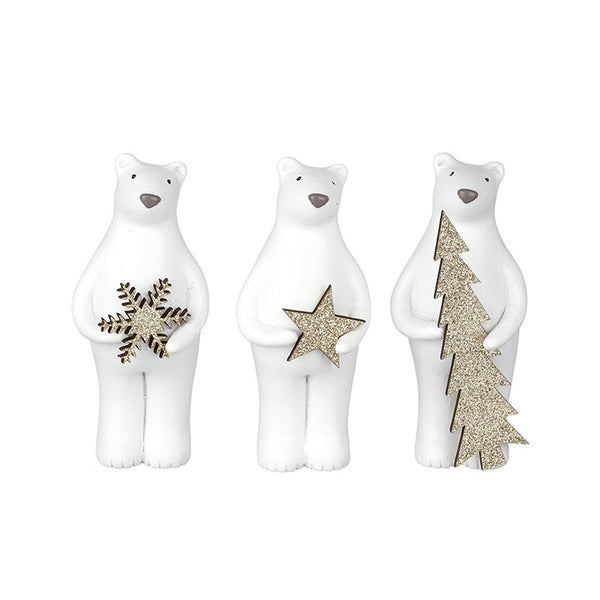 Mini Christmas Polar Bear Trio - stoneandco