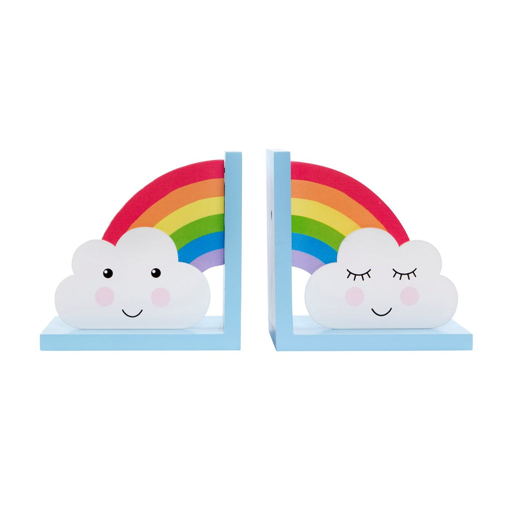 Rainbow Daydream Cloud Bookends - stoneandcoshop
