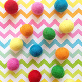 Stone and Co Felt Ball Pom Pom Garland Rainbow Bright - stoneandcoshop