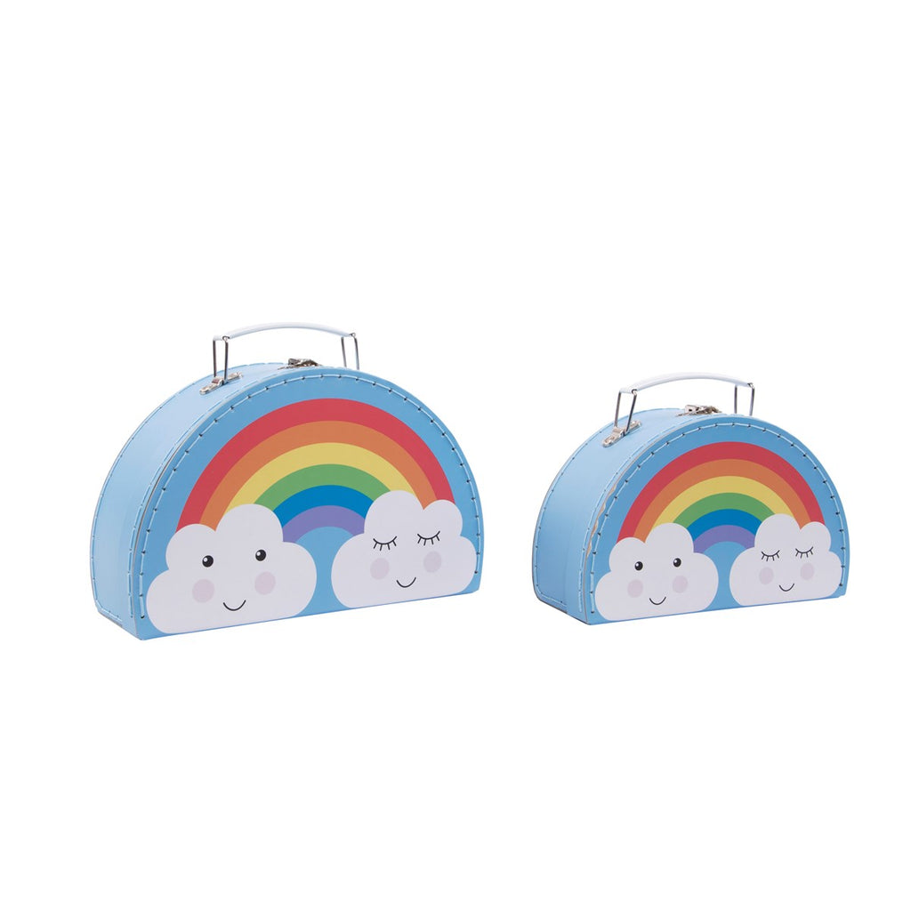 Rainbow Daydream Suitcases Storage Boxes Set Of 2 - stoneandcoshop