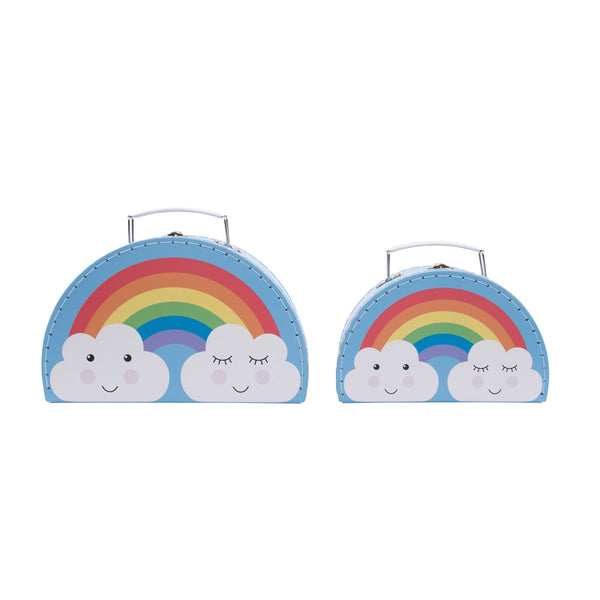Rainbow Daydream Suitcases Storage Boxes Set Of 2 - stoneandco