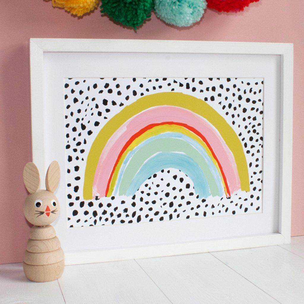Rainbow print by Eleanor Bowmer - stoneandcoshop