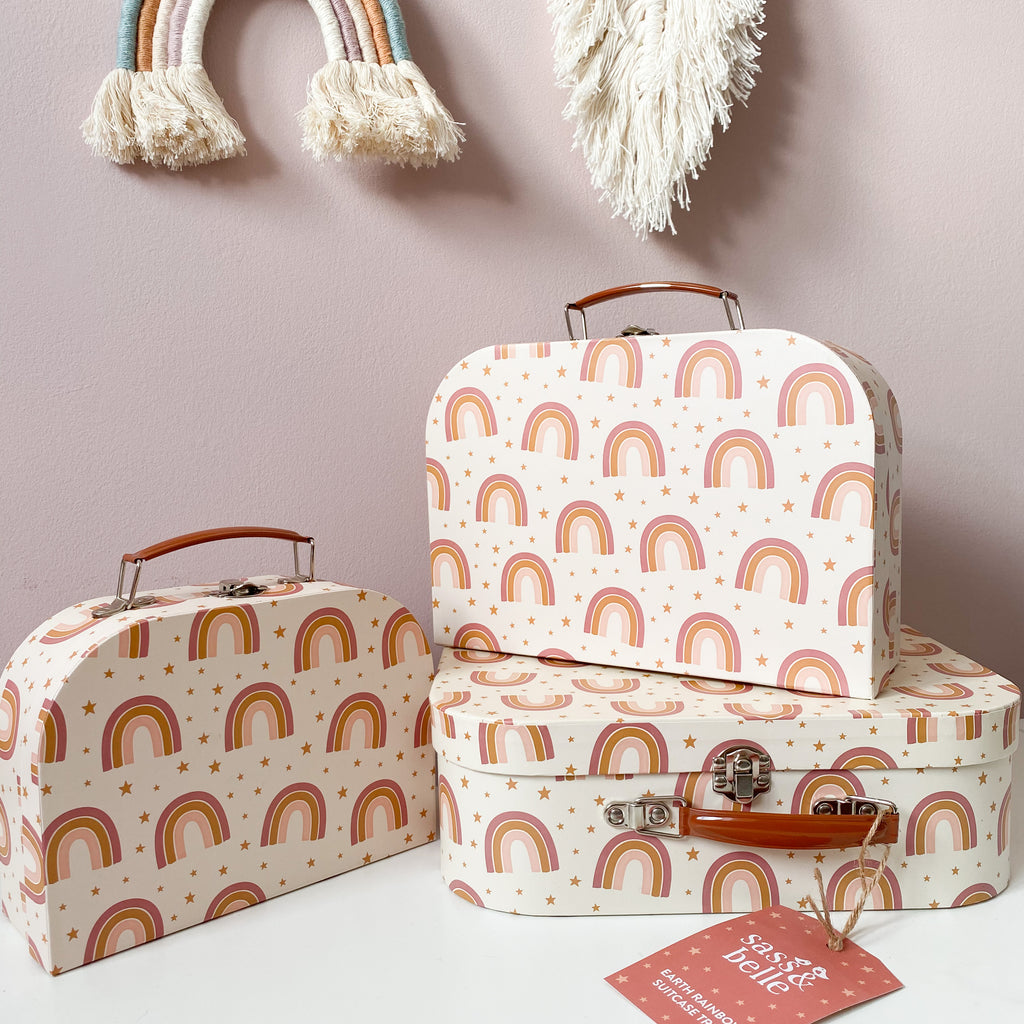 Earth Rainbow Suitcases Set Of 3