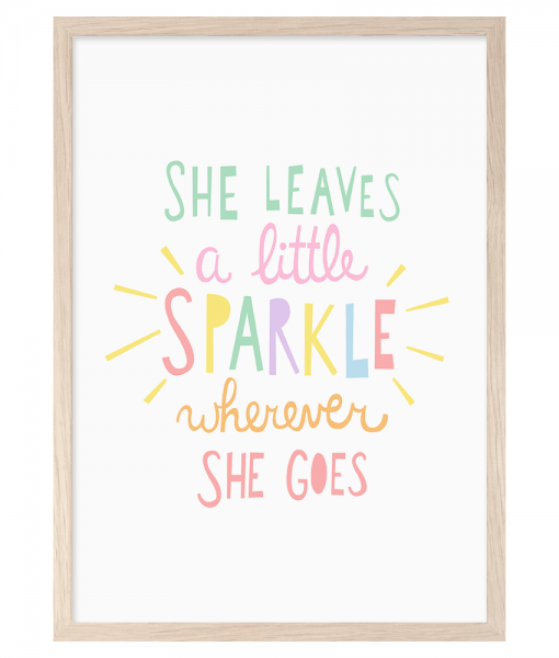 She Leaves A Little Sparkle - A4 Print By Mini Learners - stoneandco