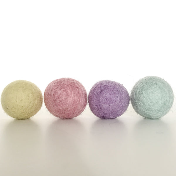 Stone and Co Felt Ball Pom Garland in Pastel Heaven - stoneandcoshop