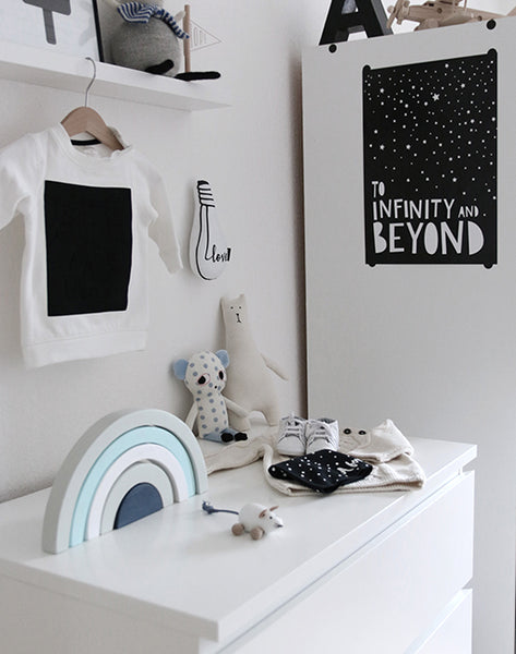 To Infinity And Beyond A4 Print By Mini Learners - stoneandcoshop