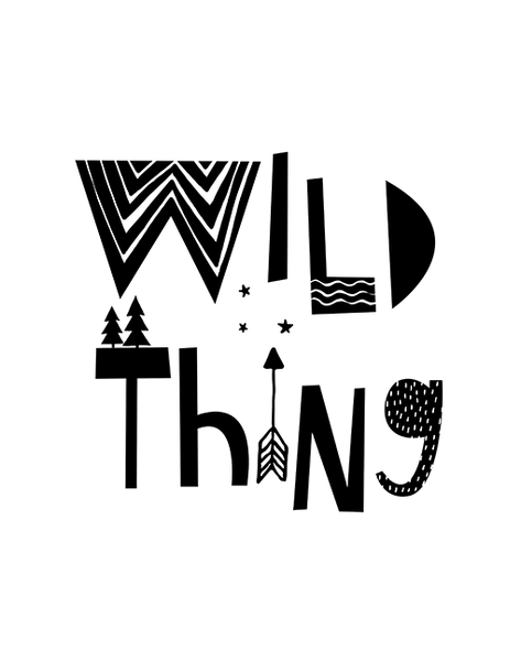 Wild Thing - Mono A4 Print By Mini Learners - stoneandcoshop