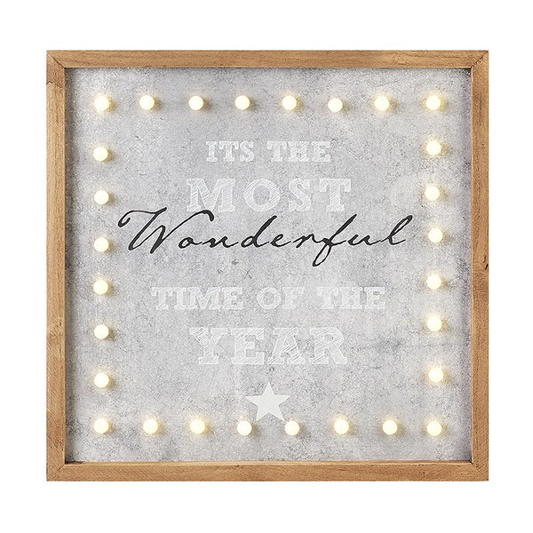 Most Wonderful Time Of The Year -  LED Sign - stoneandco